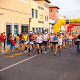 CORRALEJO - OCTOBER 30:  Runners start the race Stock Images