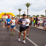 CORRALEJO - OCTOBER 30:  Runners start the race Stock Photos
