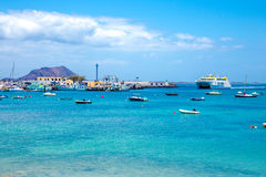 Corralejo port Stock Photography