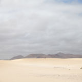 Corralejo sand dunes and volcano Stock Images