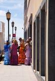 CORRALEJO, SPAIN - APRIL 28: Dancers at fiesta Stock Images