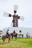 CORRALEJO, SPAIN - APRIL 28: Horse show Stock Photos