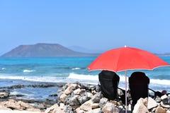 Corralejo strand, Fuerteventura royaltyfri foto