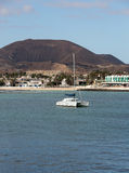 Corralejo, a town located on the northern tip of Fuerteventura. Royalty Free Stock Images