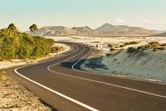 Corralejoduinen in Fuerteventura Stock Afbeeldingen