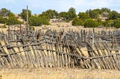 Corrals au car Stop On Sante Fe Trail d'étape photographie stock libre de droits
