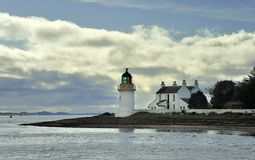 Corran narrows lighthouse, Ardgour, Scotland Royalty Free Stock Photography