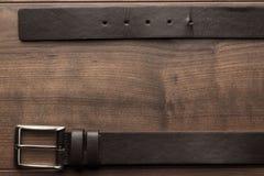 Correa de cuero de Brown para los hombres Fotografía de archivo libre de regalías