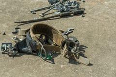 Correa de cuero de la herramienta del electricista Fotos de archivo