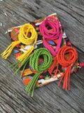 Correa de cuero de la torsión de la cuerda de la variedad Foto de archivo libre de regalías
