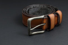 Correa de cuero marrón hermosa Fotos de archivo libres de regalías