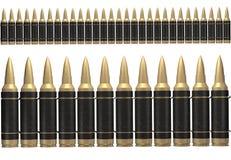 correa de la munición del negro 3d Imagen de archivo