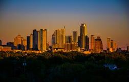 Correa de Venus sobre la ciudad de Austin Best en Tejas fotos de archivo