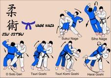 Correa del azul de Jiu Jitsu Imagenes de archivo
