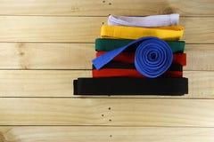 Correa del color del arte marcial Foto de archivo libre de regalías