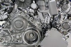 Correa y engranajes del motor de coche Imagen de archivo libre de regalías