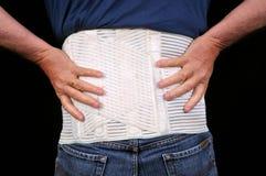 Correa médica a luchar contra espalda dolor fotografía de archivo libre de regalías