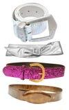 Correas - accesorios femeninos Fotografía de archivo libre de regalías