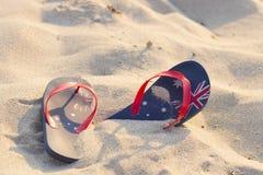 Correas australianas por la playa Imagen de archivo libre de regalías