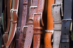 Correas de cuero Imagen de archivo libre de regalías