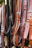 Correas de cuero Foto de archivo