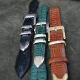 Correas de cuero de Aligator Foto de archivo libre de regalías