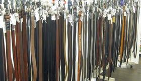 Correas de cuero para los pantalones o los pantalones Imagen de archivo