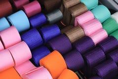 Correas de la materia textil Fotografía de archivo