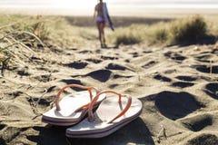 Correas de la playa Foto de archivo libre de regalías