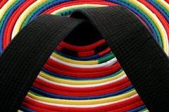 Correas de los artes marciales - círculo Foto de archivo libre de regalías