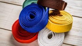 Correas del karate Fotos de archivo libres de regalías