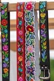 Correas húngaras, pintadas y bordadas fotografía de archivo
