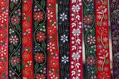 Correas húngaras, pintadas y bordadas fotografía de archivo libre de regalías