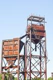 Correas viejas del sonveyor en una mina de la arena Foto de archivo libre de regalías