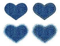 Correcção de programa do coração da sarja de Nimes. Foto de Stock Royalty Free
