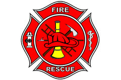 Correcção de programa do sapador-bombeiro Fotografia de Stock