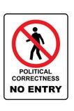 Corrección política ninguna muestra de la entrada libre illustration