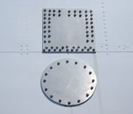 Correcciones de aluminio Fotografía de archivo