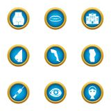 Correct the figure icons set, flat style. Correct the figure icons set. Flat set of 9 correct the figure vector icons for web isolated on white background Royalty Free Stock Photography