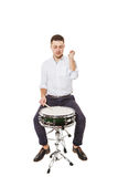 Correct hit on the drum Royalty Free Stock Photography