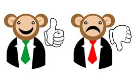 Correct incorrect monkey Royalty Free Stock Photography