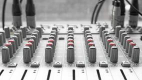 Correct mixercontrolebord Stock Afbeelding