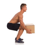 Correct Posture While Lifting Weight Stock Images