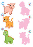 The correct shade, pig cat and dinosaur Stock Images
