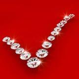 Correct sign shape diamond art illustration Royalty Free Stock Photography