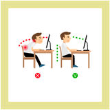 Correct sitting posture Royalty Free Stock Images