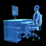 Correct sitting posture Stock Images
