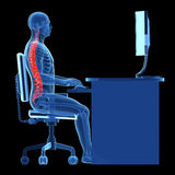 Correct sitting posture Stock Photography