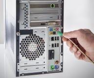 Correcte Kabel voor Externe Computersprekers Royalty-vrije Stock Foto