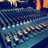 Correcte mixer in conferentiezaal stock foto's